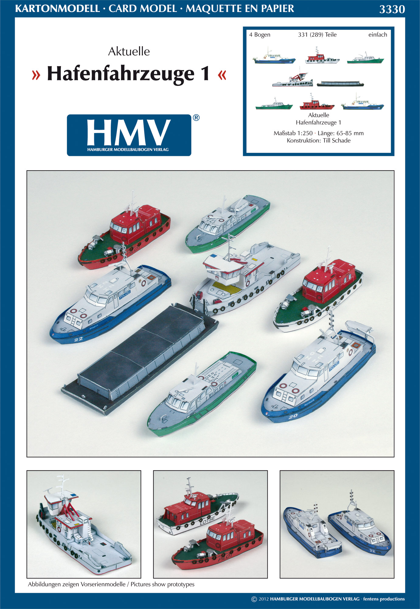 Modern Harbor Boats - HMV - Hamburger Modellbaubogen Verlag